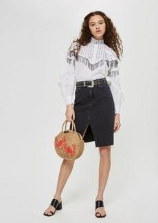Topshop Midi Denim Skirt
