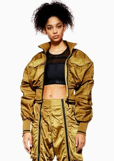 Topshop Military Corset Bomber Jacket By Ivy Park
