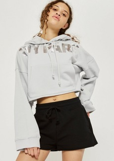 Mint Metallic Logo Cropped Hoodie By Ivy Park