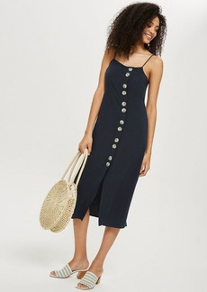 Topshop Molly Side Button Slip Dress