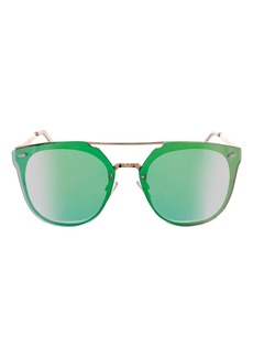Topshop Monique Rimless Brow Sunglasses