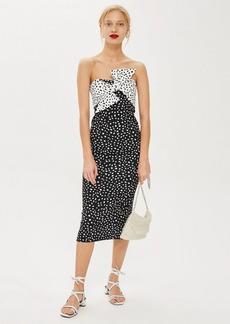 Topshop Monochrome Bow Twist Midi Dress