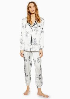 Topshop Monochrome Jungle Print Pyjama Trousers
