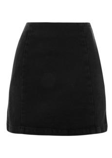 Moto A Line Denim Skirt