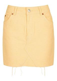 Moto Denim Mini Skirt