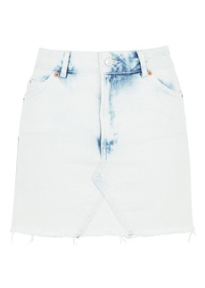 Moto Extreme Bleach Denim Skirt