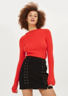 Moto Front Lace A Line Skirt