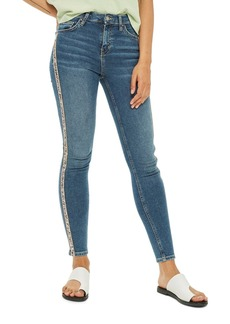 Topshop MOTO Jamie Stripe Skinny Jeans