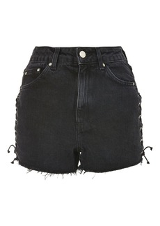 Topshop Moto Lace Up Side Mom Shorts