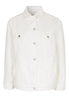 Topshop Moto Off White Oversize Denim Jacket