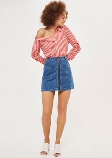 Topshop Moto Patch Pocket A Line Skirt