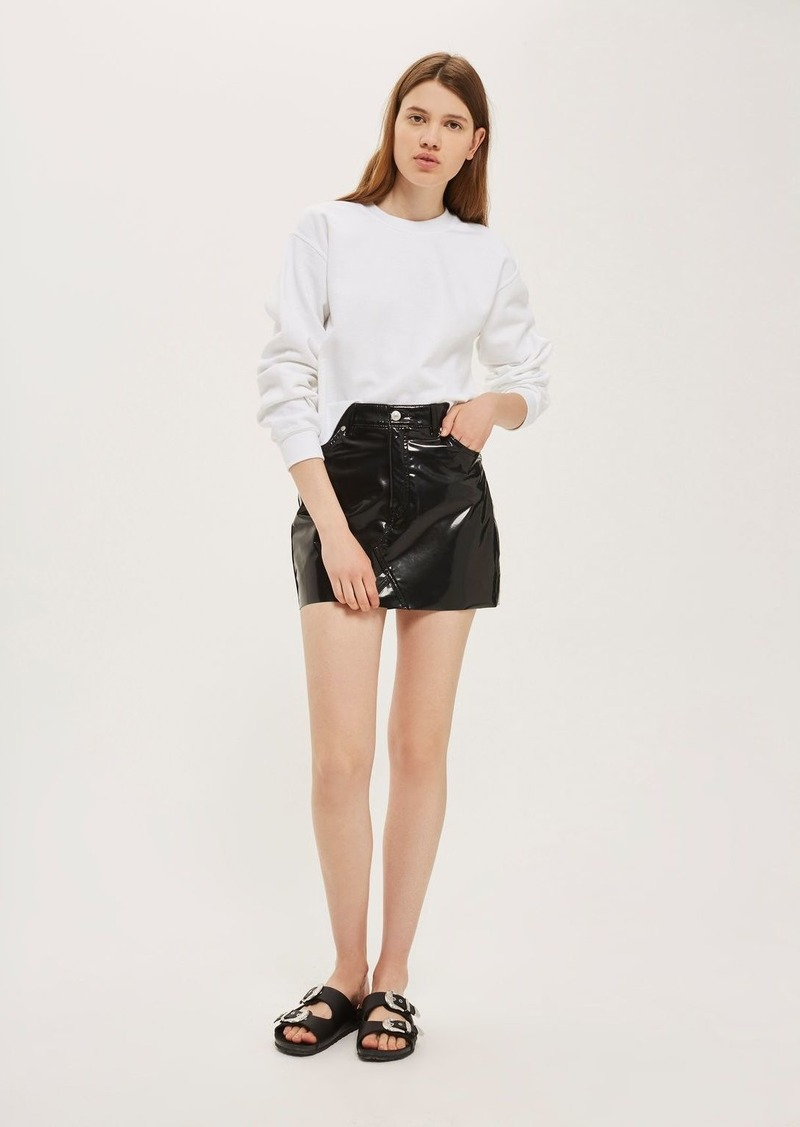 a95de7a4d1 On Sale today! Topshop Moto Vinyl Mini Skirt