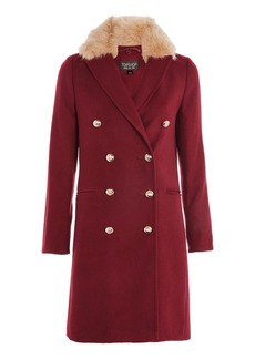 Nancy Faux Fur Collar Coat