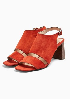 Topshop Nateisha Leather Block Sandals