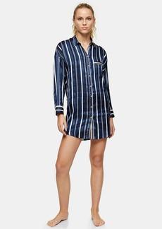 Topshop Navy Stripe Pyjama Shirt