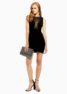 Topshop Neck Trim Bodycon Dress