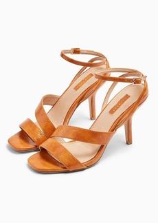 Topshop Nero Tan Mid Heel Sandals