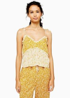 Topshop Ochre Mixed Floral Print Pyjama Cami