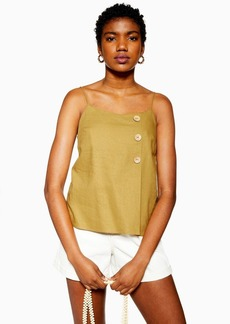 Topshop Olive Button Wrap Cami