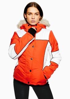 Orange Colour Block Jacket By Topshop Sno