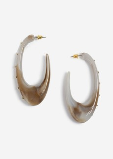 Topshop Oval Resin Hoop Earrings