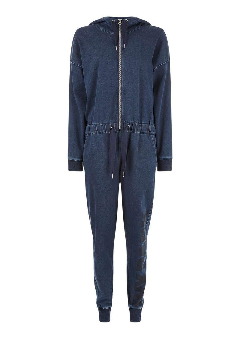 255637b82ab Topshop Oversized Denim Jumpsuit By Ivy Park