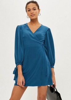 Topshop Ovoid Sleeve Wrap Mini