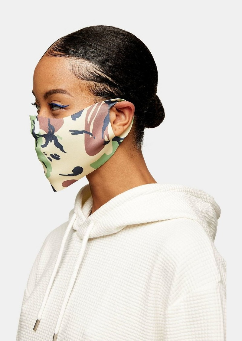 Topshop Clothing /New Semester / Pack Camouflage Print And Black Fashion Face Mask