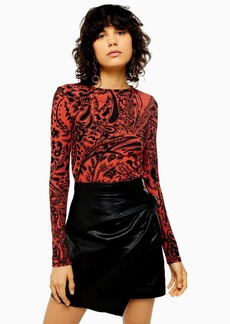 Topshop Paisley Long Sleeve