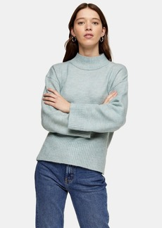 Topshop Pale Blue Central Seam Knitted Sweater