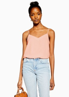 Topshop Pale Pink V Insert Camisole Top