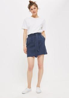 Paperbag Tie Mini Skirt
