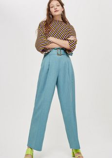 Topshop Paperbag Wide Leg Trousers