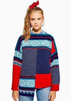 Topshop Topshop Reverse Fair Isle Sweater  c82642def