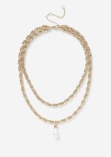 Topshop Pearl Drop Necklace