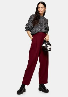 Topshop Peg Trousers With Elastic Back