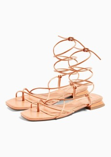 Topshop Peggy Natural Wrap Sandals
