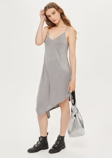Petite Asymmetric Hem Slip Dress