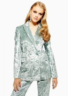 Topshop Petite Bonded Velvet Jacket
