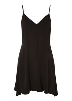 Petite Button Asymmetric Dress