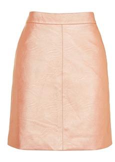 Petite Classic Pu Skirt