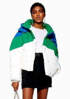 Topshop Petite Colour Block Puffer Jacket