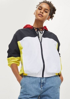 Topshop Petite Colour Block Windbreaker Jacket