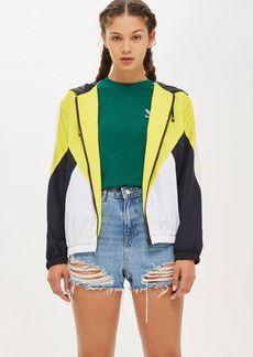 Topshop Petite Colour Block Windbreaker Jacket
