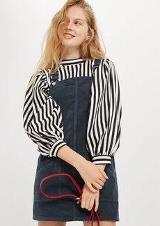 Topshop Petite Corduroy Pocket Pinafore Dress