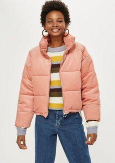 Topshop Petite Corduroy Puffer Jacket