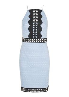 Topshop Petite Crochet Contrast Lace Mini Bodycon Dress