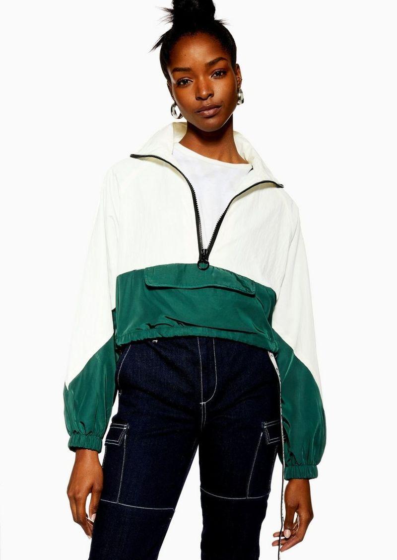Petite Cropped Windbreaker Jacket