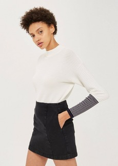Topshop Petite Double Seam A Line Skirt