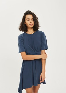 Petite Drape Front Mini Dress